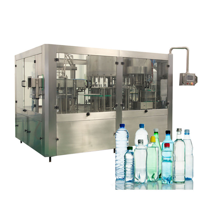 Liquid Plastic Bottle Monoblock Water Filling Machines For Industrial Use