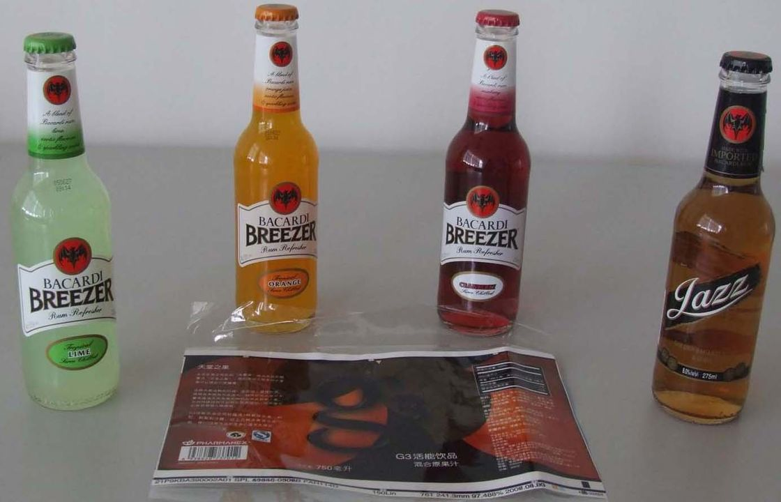 PP / PE / OPS Waterproof Self adhesive Label for Bottled Beverage